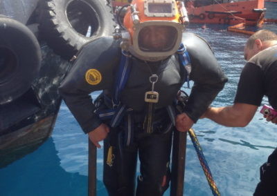 Diving works contaminated waters