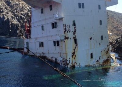Salvage sunken ship