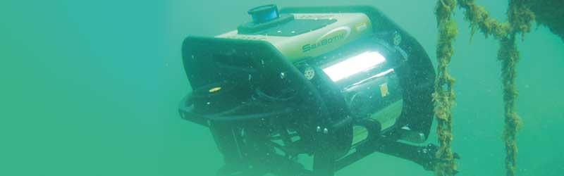 Tauchroboter Seabotik vom Tauchservice Naue bei Unterwasserarbeiten