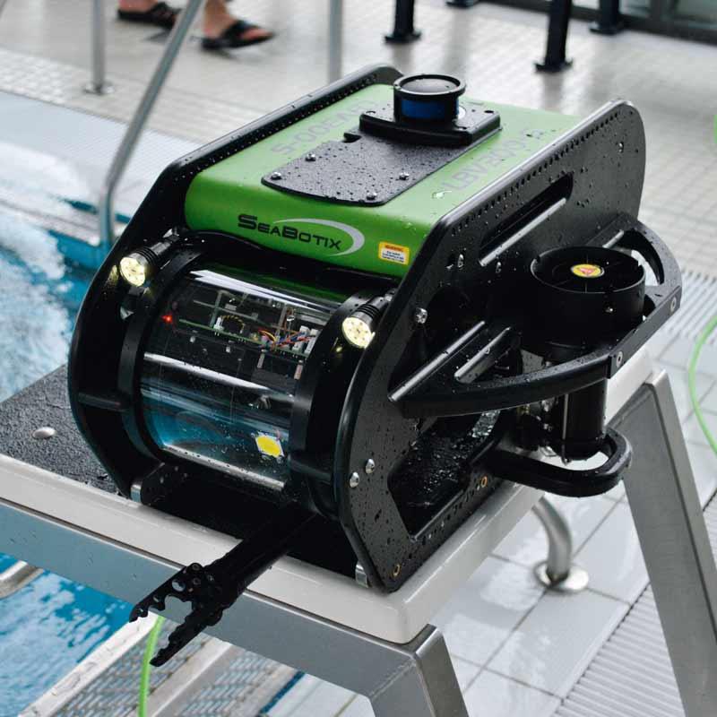 Großaufnahme Tauchroboter ROV (Remotely Operated Vehicle)