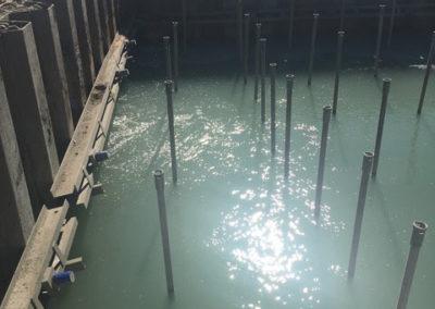 Unterwasser Betonage Flughafen Frankfurt